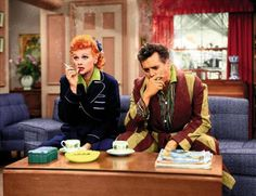 Lucy and Desi in 'I Love Lucy'. I love seeing it in color.