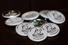 "AJ's Elixirs 1"" Lapel or Hat Pin Button"