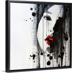"""Pump up the drama with """"Doubt"""" by Rebekka, featured in out Blacking Floating Frame.  Available on GreatBIGCanvas.com"""