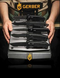 Gerber Knives  This year marks Gerber's 75th Anniversary of designing and manufacturing problem-solving, life-saving knives, tools and gear that stands up to a lifetime of use. This deep heritage will be the launching pad for their next 75 years of innovation. Throughout 2014, wherever you see this special mark, they will be celebrating the past, and highlighting what comes next. Here's to the next 75.