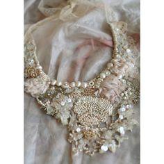 Secret Garden  antique lace necklace