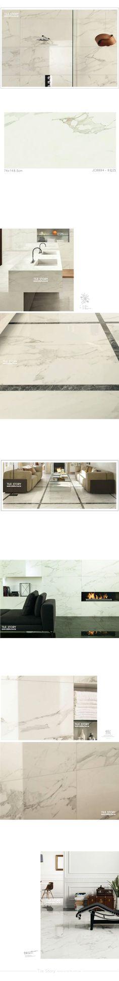 妮斯頓大尺寸石紋磚-卡拉白,銀狐 / 卡拉拉白 | 磁磚故事