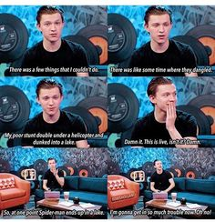 Ha, poor tom. Its alright. You didn't give too much away. All we know is that Spidey gets wet. :)