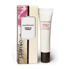 Restore firmness and reduce puffiness around the eye area with this dramatically effective treatment, bareMinerals Firming Eye Treatment, that reveals younger looking eyes. Eye Treatment, Skin Care Treatments, Make Up Remover, Eye Makeup Remover, Eye Serum, Bare Escentuals, Bare Minerals, Facial Skin Care, Clean Beauty