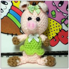 Crochet amigurumi piglet by MyLittleBeastie on Etsy, £4.95