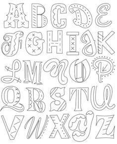 House Industries are masters of type. Here's a mixed alphabet of their fantastic typefaces to create an epic alphabet embellished by us with embroidery stitches. Use this lively lettering to stitch mo Embroidery Alphabet, Embroidery Sampler, Hand Embroidery Patterns, Cross Stitch Embroidery, Embroidery Designs, Embroidery Software, Stitching Patterns, Simple Embroidery, Modern Embroidery
