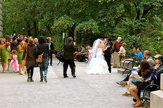 Nova York - Noivos fotografando no Central Park