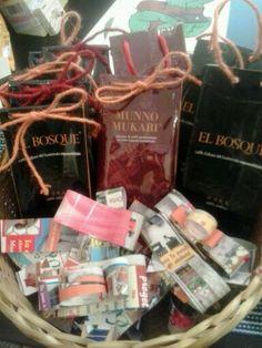 sacchettini regalo e fiocchetti riciclosi!