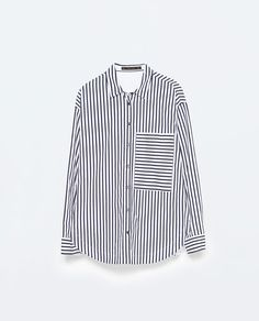 Image 8 of STRIPED OVERSIZE SHIRT from Zara