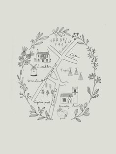 Ryn Frank is a freelance illustrator, specialising in hand drawn illustrations. Map Design, Graphic Design, Map Sketch, Custom Map, Map Art, Doodle Art, Illustration Art, Map Illustrations, How To Draw Hands