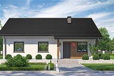Projekt domu Murator C333j Miarodajny - wariant X 86,6 m2 - koszt budowy 174 tys. zł - EXTRADOM Bungalow, Pergola, House Design, Mansions, House Styles, Outdoor Decor, House Exteriors, Home Decor, Modern