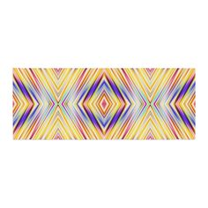 """Dawid Roc """"Colorful Tribal Ethnic Ikat """" Yellow Pattern Bed Runner"""