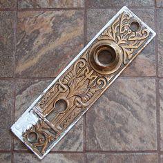 Vintage Door Plate Escutcheon Arts and Crafts by RetroCollecto, $18.00