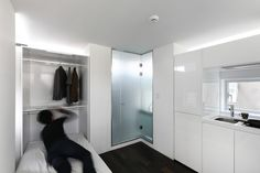 Image 18 of 31 from gallery of Songpa Micro Housing / SsD. Courtesy of SsD Tiny Studio Apartments, Student House, Prefabricated Houses, Micro House, Apartment Complexes, Custom Made Furniture, Tiny Spaces, Modular Design, Apartment Design