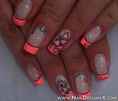 hot 1 nail design