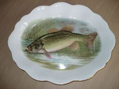 Antique Oval Fish Platter by Colonial Pottery Artist Signed R K Beck | eBay