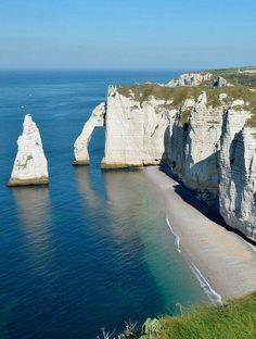Acantilados de Etreta, Normandia, Francia