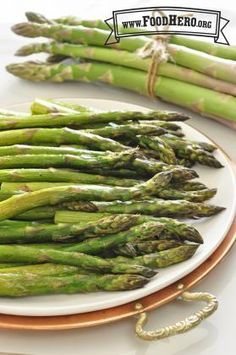 Quick and Easy Roasted Asparagus - Oven cook time 15 minutes. Food Hero