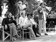 Burt Lancaster, Romy Schneider, Alain Delon and Luchino Visconti di Modrone, Count of Lonate Pozzolo, of The Dukes of Grazzano
