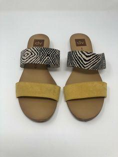 44f9b4e6854 Women s DV designs by Dolce Vita Bailey Slide Sandals Multicolor yellow-  Size 9  fashion