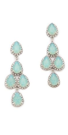 Erickson Beamon Duchess of Fabulous Earrings #mint #wedding #earrings