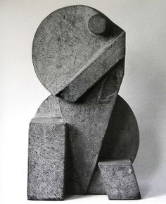 // sculpture by Piet van Stuivenberg Portrait Sculpture, Cubist Sculpture, Sculptures Céramiques, Stone Sculpture, Concrete Sculpture, Geometric Sculpture, Art Object, Art Plastique, Oeuvre D'art