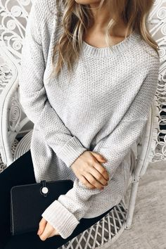 Mandy Jumper - Grey - $59.95 Cute Winter Outfits, Fall Outfits, Casual Outfits, Cute Outfits, Cute Winter Clothes, Cheap Outfits, Pretty Outfits, Stitch Fix Outfits, Crochet