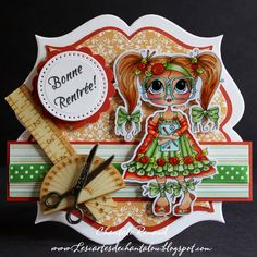 welcome back to school card by Chantale Renaud