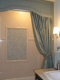 Bathroom Windows Over Shower how to make a valance to go above the shower curtain | valance