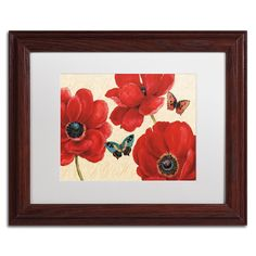 'Petals and Wings on Beige I' by Daphne Brissonnet Framed Painting Print