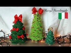 Stella di Natale all'uncinetto | How to crochet a poinsettia - YouTube