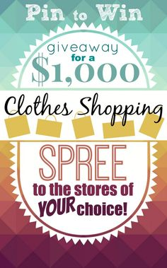 Need to update your spring and summer wardrobe?  Enter to win our $1,000 clothes shopping giveaway!! You get to choose up to FIVE of your favorite clothing stores!!