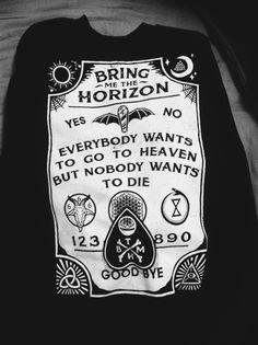 Bring Me the Horizon`s Merch is Perfect!!  I have it hoe's c;