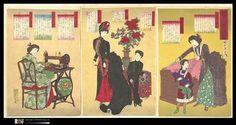ChikanobuHashimoto,Court Ladies Making Western Clothing, 1887 - Second-hand Sights