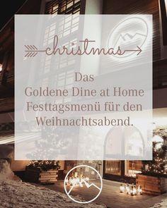 """Die erste """"Stile Nacht"""" ✨ im Leben von vielen von uns kommt auf uns zu. Wir möchten sie so feiern wie sie gedacht ist. Aber wir wollen doch die Möglichkeit bieten, sich zurück zu lehnen und sich auf seine Lieben zu konzentrieren, statt den ganzen Tag in der Küche zu stehen. ❤️Deshalb haben wir uns überlegt, dass wir unseren Freunden in Lech ein bring home Menü anbieten möchten.〽️ #weihnachtsmenü #panorama #auszeit Das Hotel, Dining, Christmas, Wine List, Time Out, Holiday, Glee, Xmas, Food"""