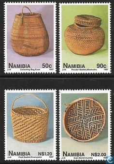 Postage Stamps - Namibia - Traditional basket weave