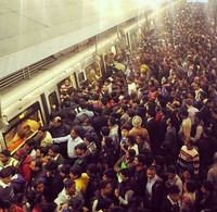 <div>The Delhi's Government's 'Odd-Even' scheme to curb pollution in the national capital faced its real test on a full-fledged working day of 2016. And soon after, videos and pictures showing a crowded Rajiv Chowk Metro Station went viral on the social media.</div><div><br></div><div>While initial reports suggested that there were fewer cars on the road thanks to the new rule, things were different for the public transportation department. As buses and Delhi Metro were crowed as expected…