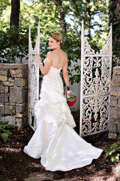 Nashville Garden Wedding Venue   Garden Gate Bridal Portrait - Photo: JHenderson Studios