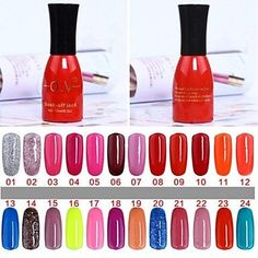Tint 1 Bottle Soak-off Lack UV Colorful Gel Polish No.01-24 (15ml,Assorted Colors) * You can find out more details at the link of the image.