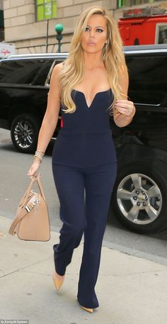 Khloe Kardashian shows off her body in tight jumpsuit on Khloe With A K | Daily Mail Online