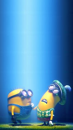 2014 Halloween minions iphone 6 plus wallpaper - blue sky, Despicable Me #iphone #wallpaper