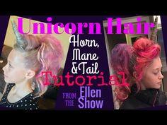 UNICORN Hair Tutorial! (Horn, Mane, Tail) Crazy Hair Day! My Little Pony - YouTube