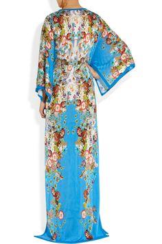 Roberto Cavalli Floral-print fine-knit maxi dress NET-A-PORTER.COM