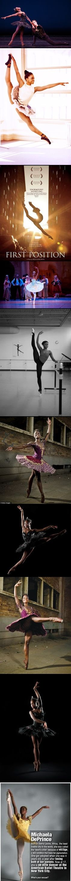 """Michaela DePrince - In July 2012 was invited to South Africa to dance with the South African Manszi Ballet Company.  She danced the role of Gulnare in its production of Le Corsaire.   """"Le Corsaire is a very difficult but magnificent ballet.""""  What Michaela liked best about her trip to South Africa was that she not only had the opportunity to prove that black ballerinas can dance classical ballet, but also she was given the chance to serve as a role model to young people there."""