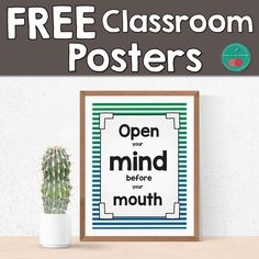 Growth Mindset Posters with beautiful primary colors backgrounds.  If you are thinking about bright classroom decor, this set may give you some additional flare. #school #decor #classroom #growthmindset #classroomdecor #backtoschool