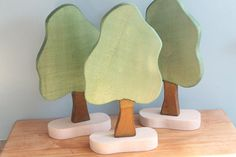 Waldorf Tree Wooden Tree Toy Tree by GingerForestToys on Etsy