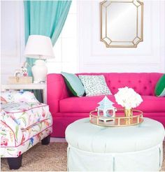 Love hot pink? We are showing you how to decorate with hot pink in your home and give you our favorite pink paint colors to use.