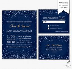 Starry Night Save the Date Template Printed or Digital by chitrap