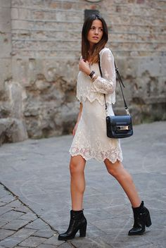 add the right accessories to pull off a transitional white dress