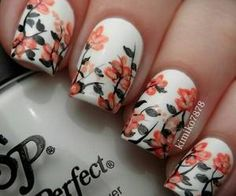 #floralnails #naildesign #nailart